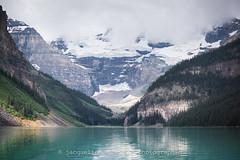 204/365 - Classic Lake Louise (Jacqueline Sinclair) Tags: travel alberta lake louise blue water turquoise mountain glacier reflection nature landscape canada cliff cliffs