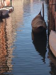 Gondola and reflection - Venice, Italy