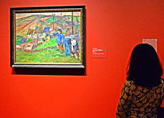 Paul Gauguin Exhibit (tacosnachosburritos) Tags: gauguin art institute chicago painting aficionados appreciation show exhibit opening sustaining fellows gaping gawking studying man woman humanity humanities