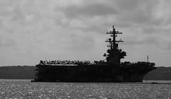 USS George H W Bush CVN-77  Nimitz Class Supercarrier On The Solent Hampshire UK (CreatureStream) Tags: uss george h w bush cvn77 nimitz class supercarrier on the solent hampshire uk
