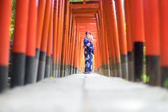 The gateway (ai3310X) Tags: carlzeiss ycontax planar t1450 浴衣 和装 鳥居 神社 狐面 乙女稲荷神社
