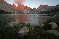 Alpenglow by Deep Lake (kyleddsn) Tags: windriverrangewyoming summer hiking backpacking deeplake