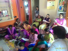A visit by the Krishna Garden group of ladies on the everyday program of bhajan at Sudhama Old Age Home