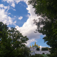 Leica X2 (VladPL) Tags: lavra kiev pechersk kievpechersklavra ukraine ukrainian church sky bluesky architecture building trees cloud clouds outdoor outdoorphotography noperson travel travelphotography travelphoto landscape ukrainianstyle украина киев пейзажи пейзаж церковь лавра leicadigital leicaimages leica leicax2 leicaphoto leicaphotography leicalens leicadng leicacompact leicaraw leicaxseries leicax leicacamera 24mm iso100 daylight beautiful beautifulsky beautifullandscape beautifulpictures nicepictures wallpaper beautifulimage niceview bestview kievview amazing awesomephoto awesome square squarecomposition tholus dome gold golden goldendome sharpness religion nature city cityscape elmarit24 crop squarecrop squarecanvas elmarit2824asph leicaelmarit