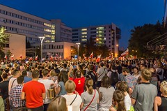IMGP7223 (TomaszMazon) Tags: protest democracy krakow poland court anti government crowd