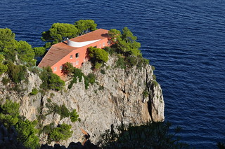 Villa Malaparte (1937), cap Massullo, Capri, Campanie, Italie.