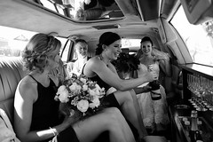 Medicine (Ranford Stealth) Tags: fujixt1 fuji23mmf2 portrait wedding bride bridesmaids limousine champagne flowers bouquet beauty beautiful woman candid monochrome mono blackwhite bw perth