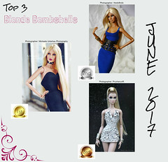The votes have been counted, and here are the top 3 winners for June 2017!! :) (MARVEL_DOLLS) Tags: fashionroyalty fr dollcontest blondebombshell madloverayna reckless forceofnature agnesvonweiss wildathearteden nuface nufacetwin