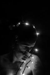 at long last (faneeeeeeeeeeeh) Tags: reflection broken mirror lights monochrome blackandwhite portrait