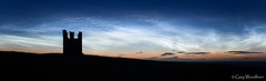 The Tower - Noctilucent Clouds, Lilburn Tower, Dunstanburgh Castle, Northumberland (Gary Woodburn) Tags: noctilucent clouds night sky stars starry dunstanburgh castle lilburn tower canon 6d samyang 24mm