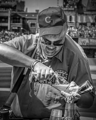 Chicago Vendor 004 (richham14 - (Mr Cubs}) Tags: chicago richham14 richardhammond bw blackwhite baseball