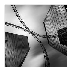 Roller Coaster (W.Utsch) Tags: skyscraper longexposure ultrawide frankfurt hochhaus bnw blackandwhite langzeitbelichtung architektur architecture modern cityscape schwarzweiss sony a7rii voigtländer hyperwide abstrakt abstract
