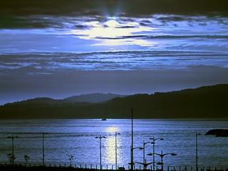 Noche americana en la Ria de Vigo