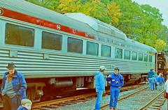 Susquehanna M-1, on M&E near Whippany RR Museum (gg1electrice60) Tags: whippany whippanyrailroadmuseum whippanyroad whippanyrd route10 stateroad10 sr10 hanovertownship morriscounty newjersey nj unitedstates usa us morristownerierailroad me merow rightofway meyard railroad railroadstation railroaddepot railroadmuseum railroadyard railroadtracks merailway morristownerierailway railroadfestival america newyorksusquehannawestern susieq susquehanna buddcar builtbythebuddcompany raildieselcar rdc passengercar passengertrain railcar railyard railfans people selfpropelledrailcar