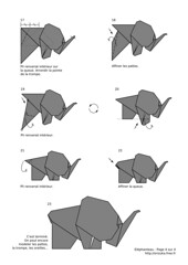 Baby elephant (2008) - diagram 4/4 (Orizuka) Tags: origami diagram elephant