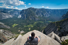Yosemite (Mike Ver Sprill - Milky Way Mike) Tags: yosemite national park upper falls trail hike with mike hiking hard difficult meditation zen landscape nature california mountains mountain range outdoors selfie ver sprill rock living edge tired birds eye view reaching top