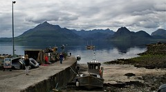 The Isle of Skye:  Elgol Harbour (ronmcbride66) Tags: scotland skye isleofskye boats harbour elgol elgolharbour cuillins mountains ribs inflatables sailing skyline yacht pier marine landscape nature tourism boattrips