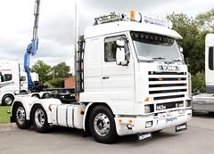SG Haulage Scania 143M N489 HFV Newark Truckfest 2017 (davidseall) Tags: sg haulage scania vabis 143m v8 n489 hfv n489hfv truck lorry tractor unit lgv hgv large heavy goods vehicle truckfest show newark nottinghamshire 2017 uk gb british