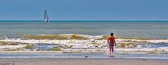 The call of the sea (Phil du Valois) Tags: callofthesea mer océan atlantique page vague littoral sable voiler bateau enfant