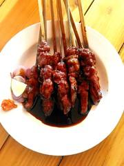 Mmm meals...7th pics...Lamb satay - Sweet! (Alvin Gunawan) Tags: lambsatay satay sweetsoysauce lamb grilledlamb sweetsatay yummy food tastymeal foodpics foodlovers sambal onionsambal meals