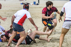 H6G64123 Ameland Invites v Baba Bandits (KevinScott.Org) Tags: kevinscottorg kevinscott rugby rc rfc beachrugby ameland abrf17 2017 vets veterans netherlands