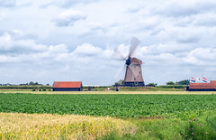 Windmill (Guy Goetzinger) Tags: schermerhorn noordholland niederlande nl clouds cloudy wind nikon d800 goetzinger contrast sky landscape mill paysage tourism travel historic old alt historisch vieux ancien