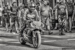 Barton Bike Night 2017 - North Lincolnshire (SteveH1972) Tags: hdr blackandwhite bw monochrome bartonuponhumber bartonbikenight bikes bike motorbike motorbikes barton northlincolnshire northernengland britain uk england machine vehicle twowheels canon7d 7d canon70200lf28usmnonis nonis canon70200 70200 road town street streetphotography outside outdoor outdoors life man men people person 2017 summer
