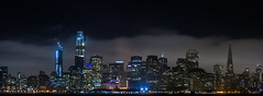 fog bumper (pbo31) Tags: bayarea california nikon d810 color summer july 2017 boury pbo31 first evening night dark black salesforce tower skyline 181 fremont panoramic large stitched panorama construction crane treasureisland ferrybuilding transamerica fog layer