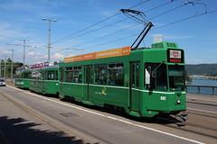 502 (200er Serie) Tags: tram drämmli schienenfahrzeug bvb basler verkehrsbetriebe grün cornichon schindler waggon pratteln