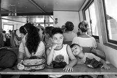 Il Viaggio (Giacomo Pasca) Tags: viaggio barca mare estate bambini persone ritratto bianconero monocronatico summer travel sea children blackwhite