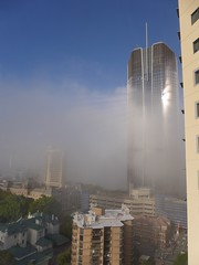 The Sun Shines From The Arse Of The Righteous (tanetahi) Tags: fog morning winter brisbane queensland australia july 1williamst cbd centralbusinessdistrict