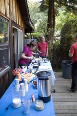 Longstock_218 (ElaineK) Tags: longstock2017 sunday pancake breakfast food outdoors picnic trees table coffee people cooking santacruzemountains