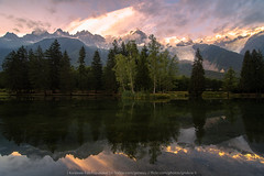 Chamonix Mirror (KRW_GNS) Tags: aiguille aiguilles alps background blanc cascades chamonix europe european france french glacier holiday lake landscape mont mountain mountains natural nature outdoor panorama panoramic peak sky snow summer sunrise sunset tourism travel vacation view