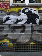 HH-Wheatpaste 3337 (cmdpirx) Tags: hamburg germany reclaim your city urban street art streetart artist kuenstler graffiti aerosol spray can paint piece painting drawing colour color farbe spraydose dose marker stift kreide chalk stencil schablone wall wand nikon d7100 paper pappe paste up pastup pastie wheatepaste wheatpaste pasted glue kleister kleber cement cutout fckg20 fck g20