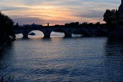 Paris (6) (geraldineh.dutilly) Tags: seine river sunset water colors