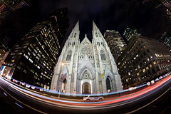 St Patricks (melfoody) Tags: newyork nyc newyorkcity church lighttrails long longexposure city night fifthavenue midtown usa canon 5dmkiv melfoody