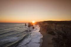 The last glimmer (Wajahat Mahmood) Tags: greatoceanroad victoria australia travel tourism rocks portcampbellnationalpark sunset sun rays nikond810 sea ocean