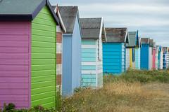 Beach Huts (ShrubMonkey (Julian Heritage)) Tags: beach huts coast seaside hut shed grass coastal haylingisland beachhuts