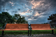Side By Each (Tukay Canuck) Tags: focusonottawa nikon ottawa exif:aperture=ƒ11 exif:make=nikoncorporation exif:model=nikond750 exif:focallength=16mm camera:model=nikond750 geolocation exif:isospeed=200 exif:lens=160350mmf40 camera:make=nikoncorporation bench benches sunset sky