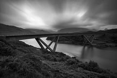 The Kylesku Bridge (emperor1959 www.derekbeattieimages.com) Tags: lochachàirnbhàin nc500 stackofglencoul bridge kylesku kyleskubridge landscape loch mountains northcoast500 scenic scotland scottishhighlands sutherland blackandwhite longexposure clouds