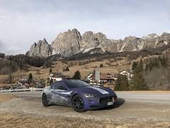 Maserati in Cortina (maina_e) Tags: picture auto car cars maseratigranturismo granturismo supercars maranello custum wrap mountain dolomiti cortina italy maserati
