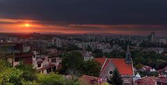 Sunset over Plovdiv (Stan Stoev) Tags: panorama plovdiv bulgaria sunset
