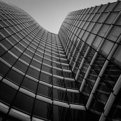 up (morbs06) Tags: düsseldorf skyoffice abstract architecture building bw city cladding construction curves facade glazing highrise light lines monochrome office pattern repetition shadow square stripes windows