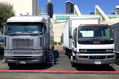Satellite Trucks (So Cal Metro) Tags: freightliner coe gmc forward cabover sandiego truck