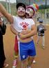 IMG_6934 (danimaniacs) Tags: hot sexy man guy clown payasosla costume dragqueen beard scruff smile hat cap bulge makeup