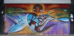 ESKA (surreyblonde) Tags: streetart grasffiti cans spray walls croydon uk artsquarter croydonstreetart rise sony a6000 cr0 urban eska shutters