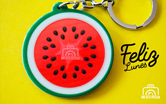 Lunes 24 de Julio (Ana Ruth Rivera) Tags: watermelon llaveros keyrings mondays love kawai