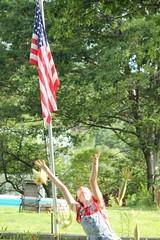 fourth 070 (noreenfrances) Tags: beekman beekmanstreet artsfair saratoga saratogasprings liz lizolson jonathan terrence america fourthofjuly usa upstate upstateny new york flag portrait canon canont3 uncommongrounds clowns circus corn