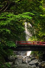 Minoh Falls with Bridge (crmanski) Tags: landscape waterfall bridge japan minoh