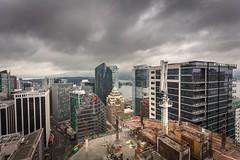 Vancouver BC - Exchange Tower (2) (doublevision_photography) Tags: vancouver vancouvercity vancouverrealestate vancouverbc vancouverskyline vancity vancouvercanada jasocrane constructioncrane vancouverconstruction roofing vancouverroofing contruction towercranephotography flyingtables tableflying
